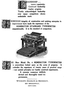 Remington No.6 ad, 1895