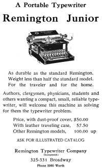 Remington Junior ad, 1915