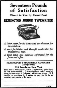 Remington Junior ad, 1916